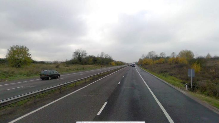 Close to the location on the M26 where five vehicles were involved in a crash
