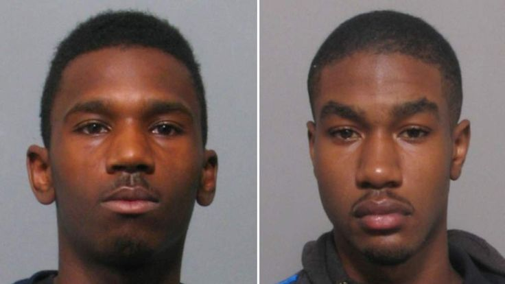 Photo issued by Leicestershire Police of Tristan Richards (L) and  Kemo Porter (R)  who have been found guilty at Nottingham Crown Court of murdering a mother and her three children in a house fire in Leicester in the early hours of September 13 last year.