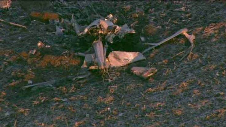 Illinois medical helicopter crash wreckage Credit: WGNtv.com
