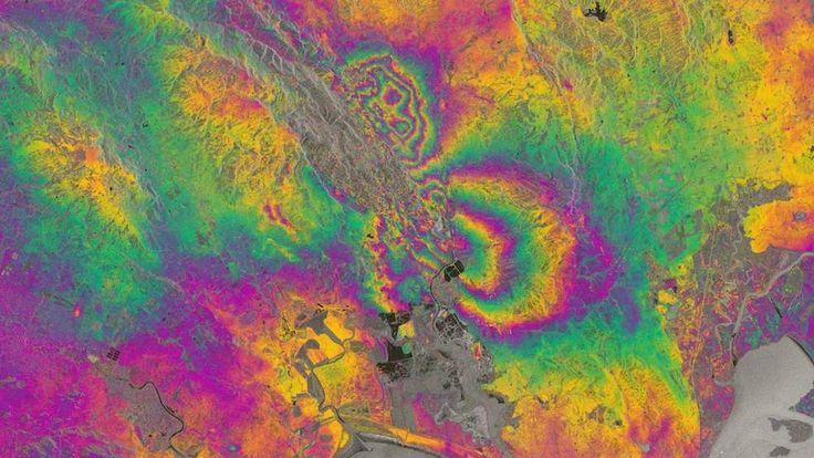 Napa Valley earthquake map. Pic: ESA/COMET/NORUT