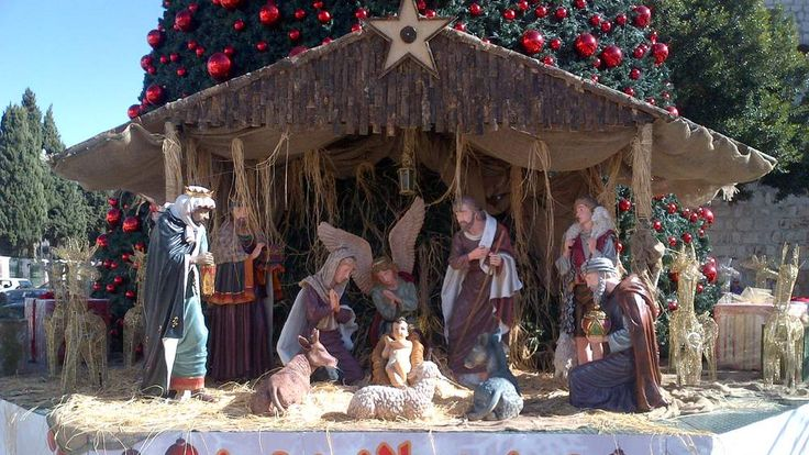 Christmas nativity scene in Bethlehem, Israel