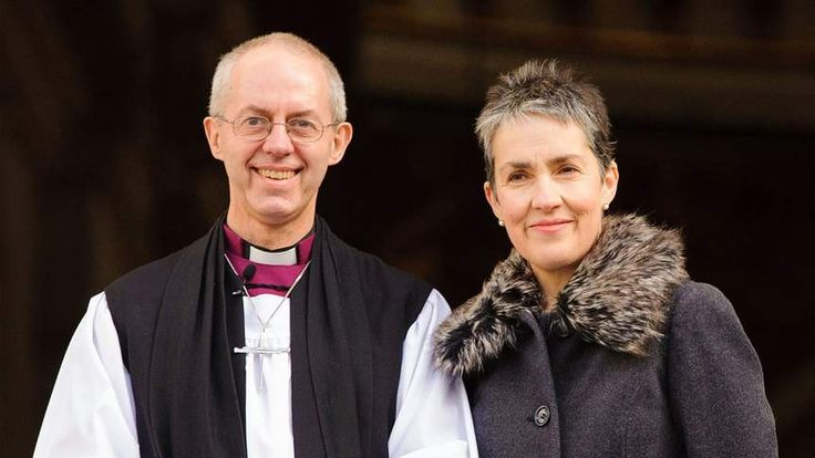 Most Rev Justin Welby with his wife Caroline.