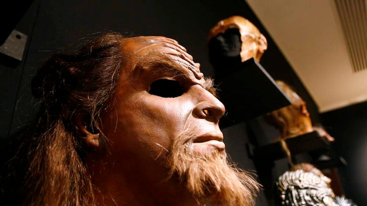 A Klingon mask on display in New York