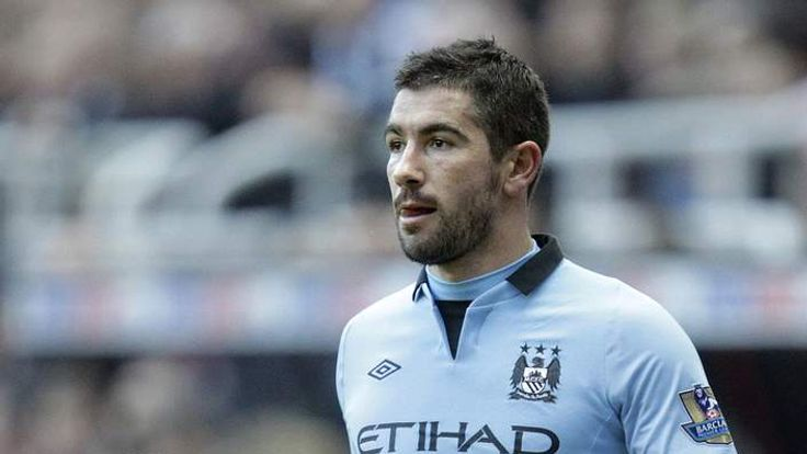 Manchester City's Serbian defender Aleksandar Kolarov