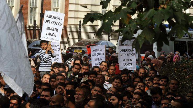Protests at US embassy