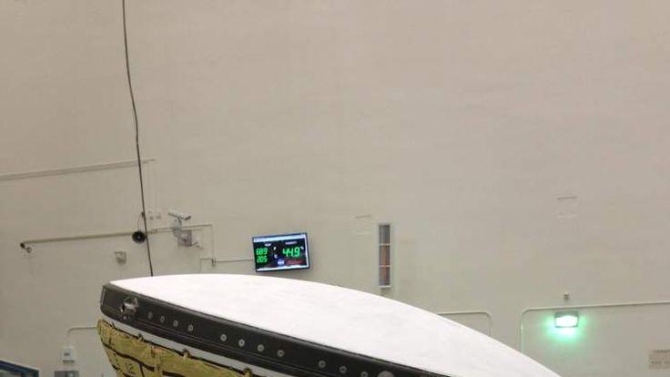 020614 FLYING SAUCER NASA LDSD Scientists working on LDSD indoors