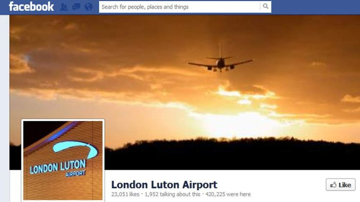 Luton Airport Facebook page