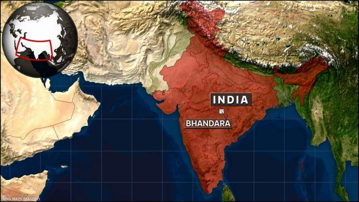 India Map showing Bhandara