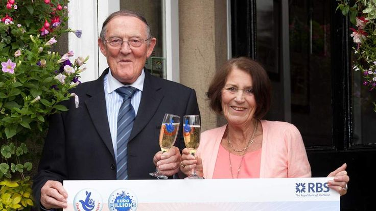 Maureen and Fred Holt who won £1m on EuroMillions but shop worker Farrakh Nizzar attempted to claim their winning ticket