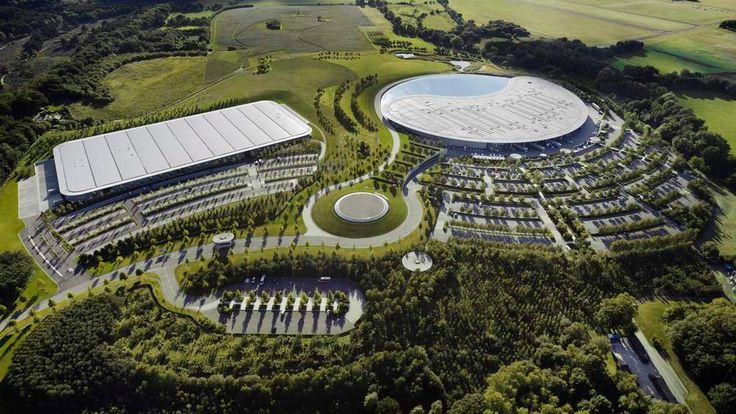 McLaren Production Centre (left) and McLaren Technology Centre (right)
