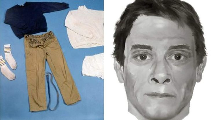 The site features photos of unidentified bodies, as well as their possessions
