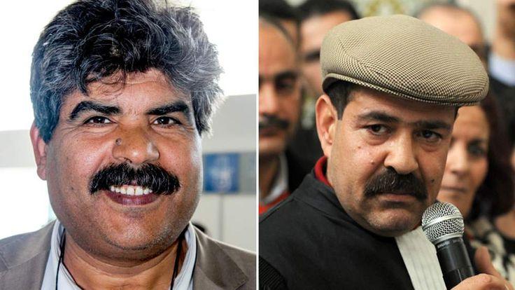 Assassinated Tunisian leaders Mohammed Brahmi (L) and Chokri Belaid
