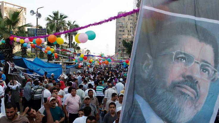 Morsi supporters celebrate Eid in Rab'a al Adawiya Square