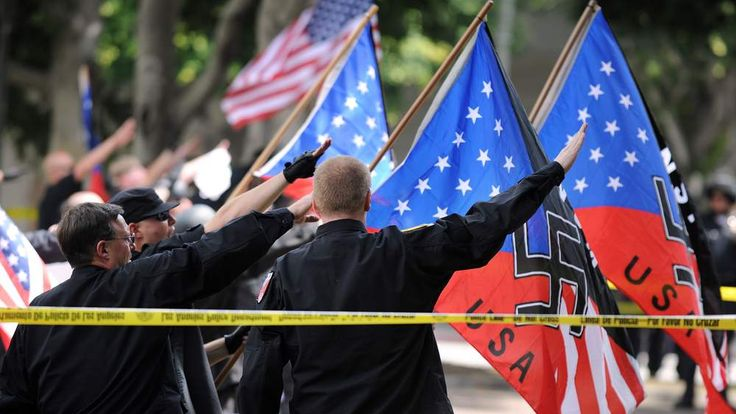 A National Socialist Movement rally in the United States.
