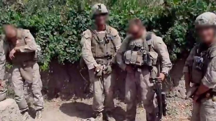 US marines allegedly urinate on bodies of Taliban insurgents in Afghanistan