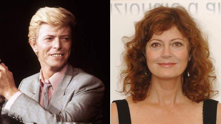 David Bowie in 1983 and Susan Sarandon