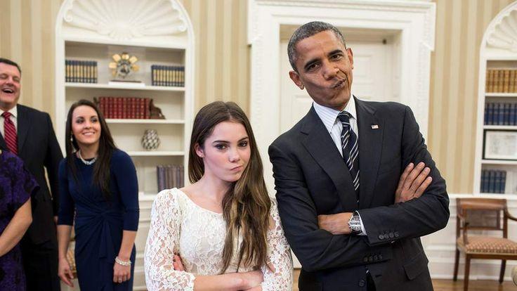 McKayla Maroney and Barack Obama (photo: The White House/Pete Souza)