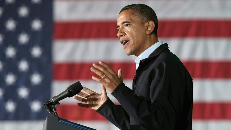 Barack Obama in Hilliard, Ohio.