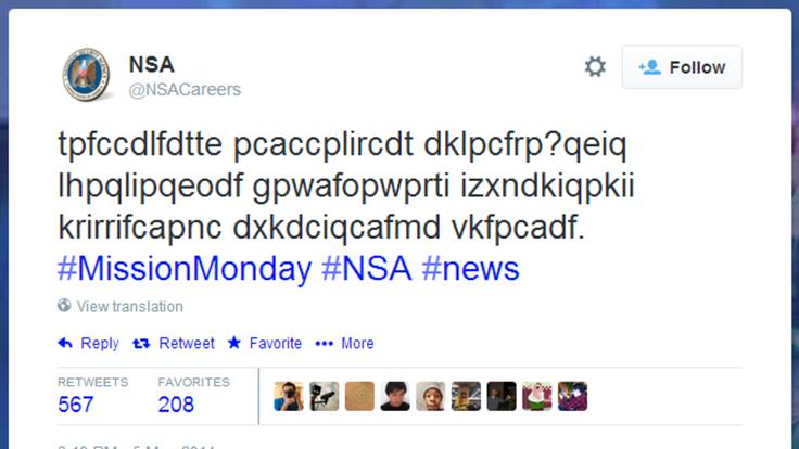 NSA Tweet