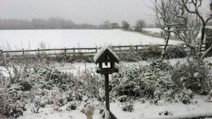 Snow in Perthshire in central Scotland