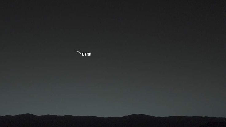 NASA's Mars Curiosity rover has taken a picture of Earth and the Moon. Pic NASA/JPL-Caltech/MSSS/TAMU