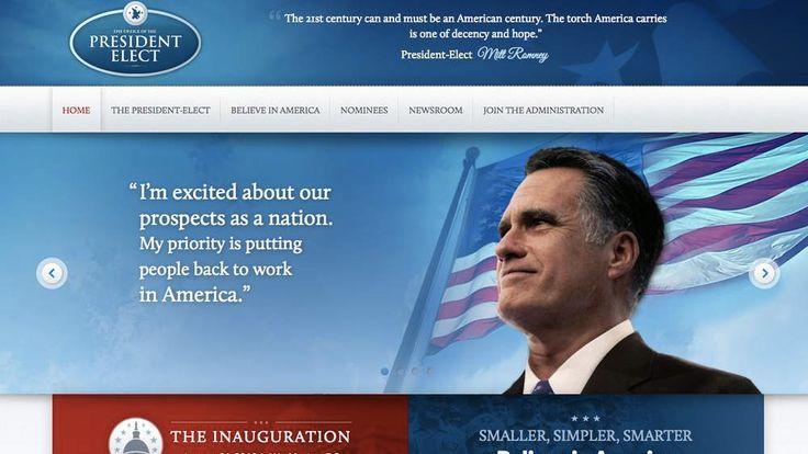 Mitt Romney's president elect website