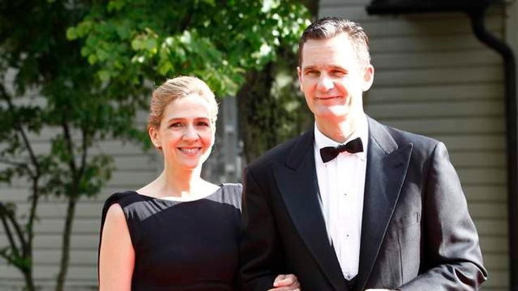 Spain's Infanta Cristina and her husband Inaki Urdangarin arrive for a Government dinner at the Eric Ericson Hall in Skeppsholmen