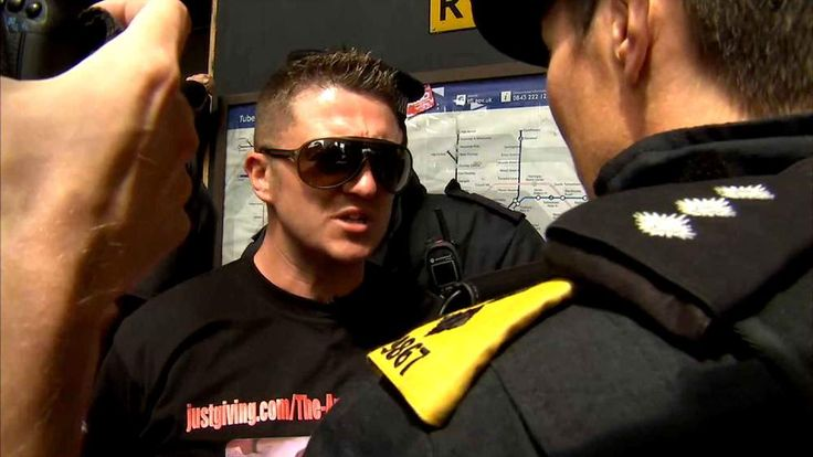 Tommy Robinson, leader of the EDL, is arrested.