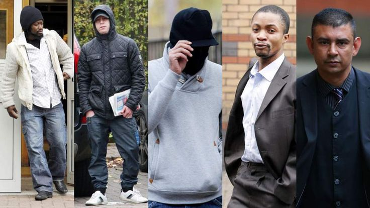 The five men jailed for sexually exploiting a 15-year-old girl