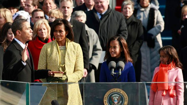 US President Barack Obama is sworn in as 44th President of United States in 2009