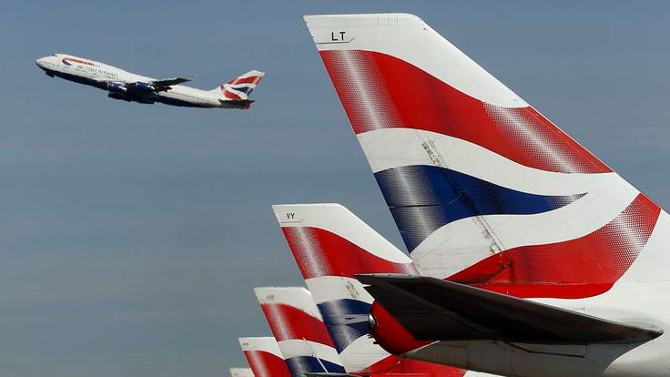 A British Airways passenger jet takes off from Heathrow Airport in west London