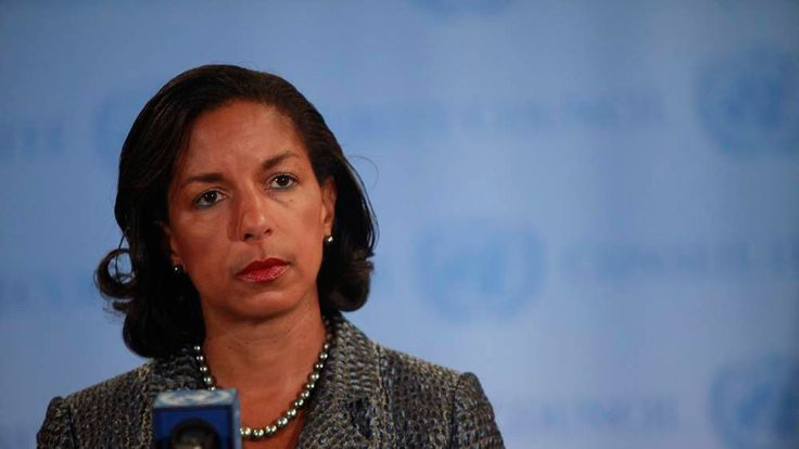 U.S. ambassador to the United Nations Susan Rice speaks to the media after Security Council consultations at the United Nations in New York