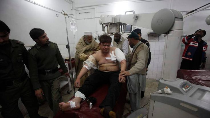 Injured driver who survived a shooting by unidentified gunmen in Swabi receives treatment at the Lady Reading Hospital in Peshawar