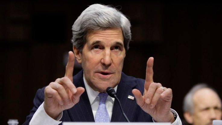 U.S. Senator Kerry testifies during his Senate Foreign Relations Committee confirmation hearing to be secretary of state, on Capitol Hill in Washington
