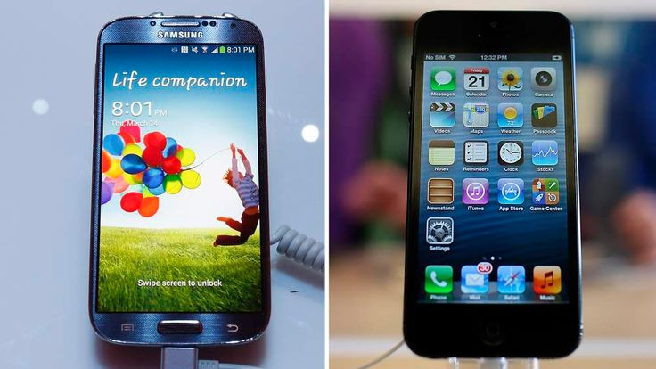 Samsung Electronics Co's latest Galaxy S4 phone is seen during its launch at the Radio City Music Hall in New York