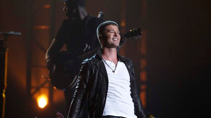 Singer Robin Thicke performs Get Her Back