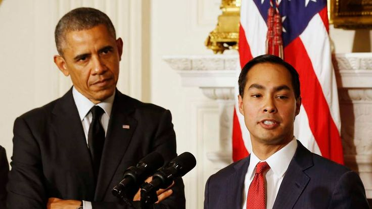 U.S. President Obama announces that San Antonio Mayor Castro will be his choice as the new Secretary of HUD at the White House in Washington