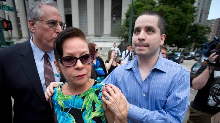 Former New York City police officer Valle and his mother Elizabeth leave the court in Lower Manhattan in New York