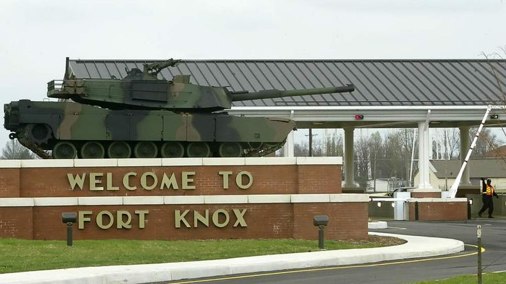 The gate to Fort Knox