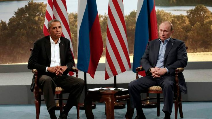 Barack Obama meets with Vladimir Putin during the G8 Summit at Lough Erne in Enniskillen