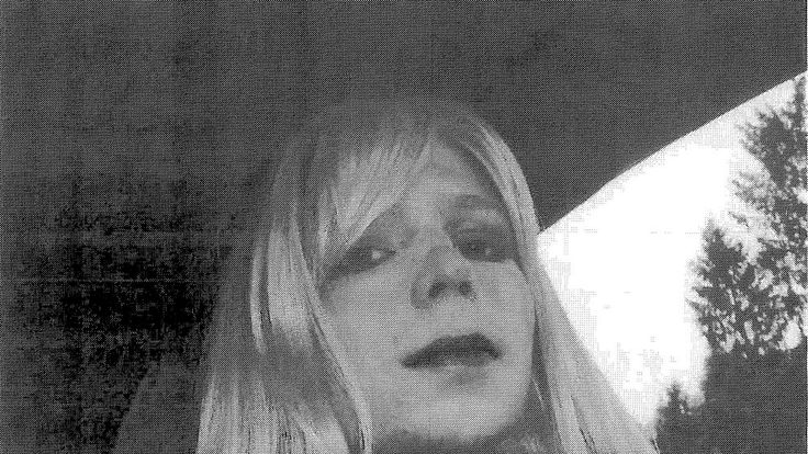 U.S. Army handout photo shows Private First Class Manning, convicted of handing state secrets to WikiLeaks, dressed as a woman