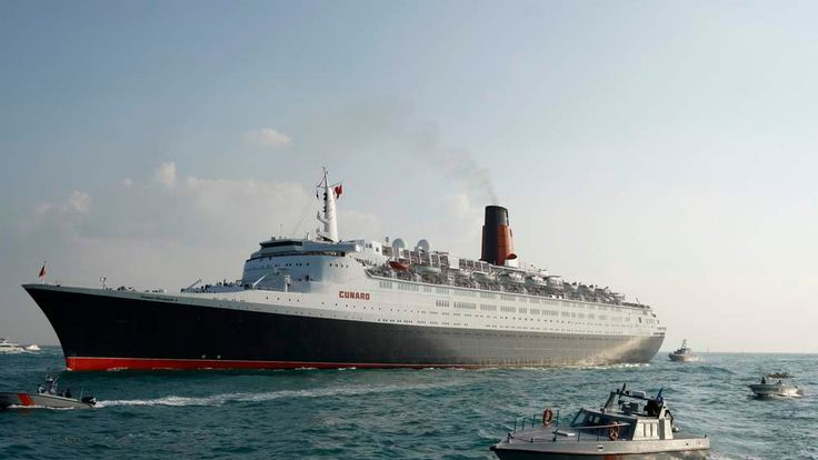 The Queen Elizabeth 2 reaches the end of her journey, arriving in Dubai