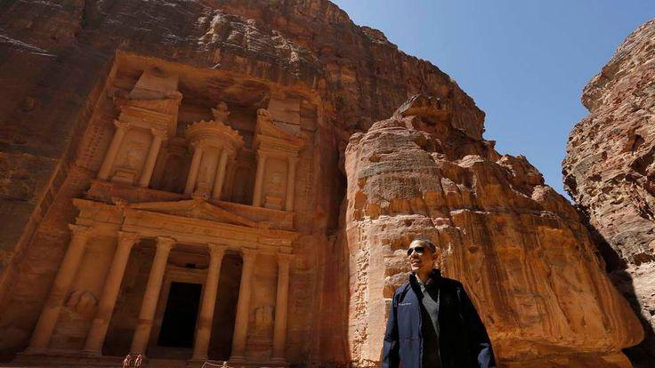 U.S. President Obama takes a walking tour of Petra
