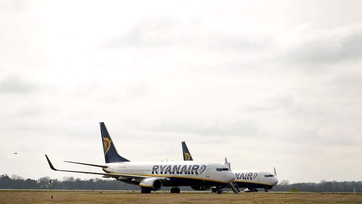 Ryanair Planes At Stansted