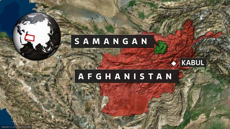 A map showing the location of Samangan Province in Afghanistan.