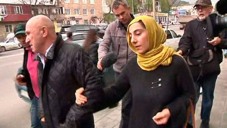 Zubeidat Tsarnaeva, mother of Boston bombing suspects Dzhokhar and Tamerlan Tsarnaev, in Makhachkala