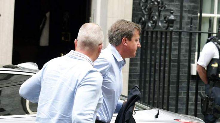 David Cameron returns to Downing Street