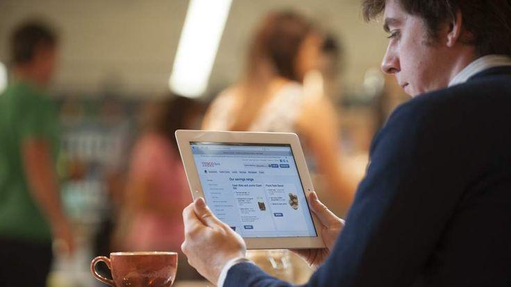 Tesco Bank on tablet