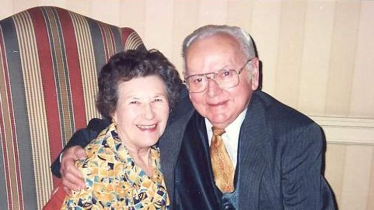 Mrs Crown with her husband, Jack, who died in 2009