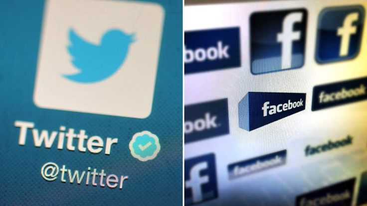 Facebook And Twitter Logos